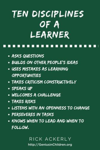 10 Disciplines of a Learner.
