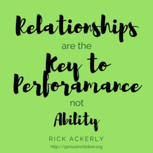 Relationships are Key to Performance not Ability.